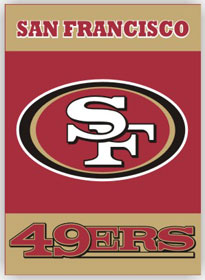 San Francisco 49ers 2 Sided Banner (P)
