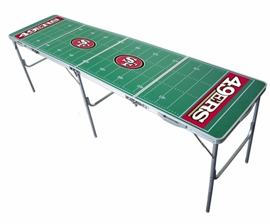San Francisco 49ers 2x8 Tailgate Table