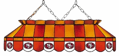 San Francisco 49ers 40 Inch Rectangular Stained Glass Billiard Light