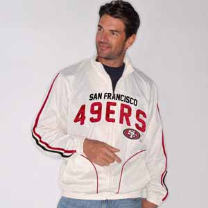 San Francisco 49ers All American Full Zip Vintage White Track Jacket - Medium