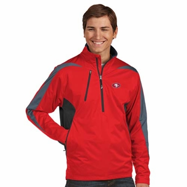 San Francisco 49ers Mens Discover 1/4 Zip Pullover (Color: Red)