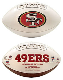 San Francisco 49ers Full Size Embroidered Signature Series Football