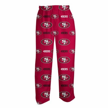 "San Francisco 49ers ""Highlight"" Men's Micro Fleece Pajama Pants"