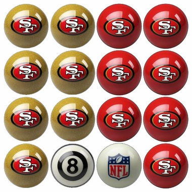 San Francisco 49ers Home and Away Complete Billiard Ball Set