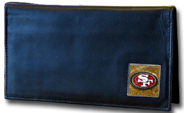 San Francisco 49ers Leather Checkbook Cover (F)