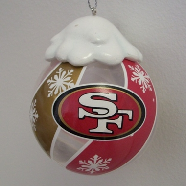 San Francisco 49ers Light Up Glass Ball Ornament