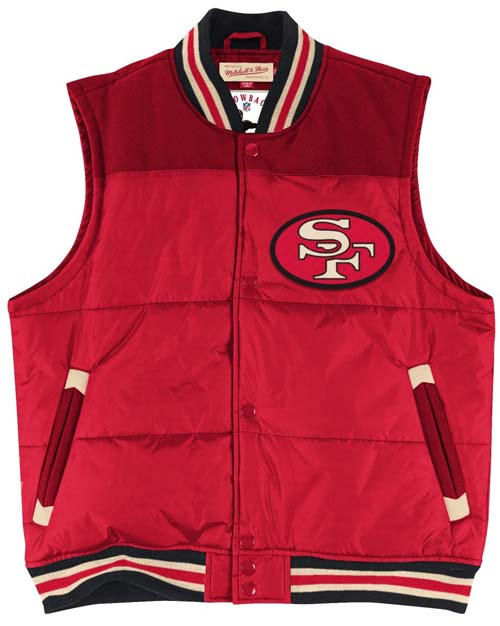 8be8092402d San Francisco 49ers Mitchell   Ness Title Throwback Snap Vest Jacket