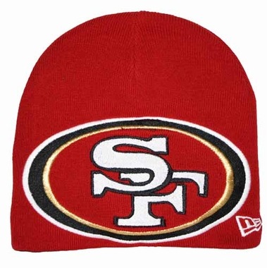 San Francisco 49ers New Era Big One Too Cuffless Knit Hat