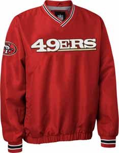 San Francisco 49ers NFL Pre-Season Wordmark Pullover Red Jacket - Small