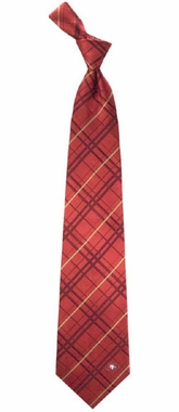 San Francisco 49ers Oxford Stripe Woven Silk Necktie