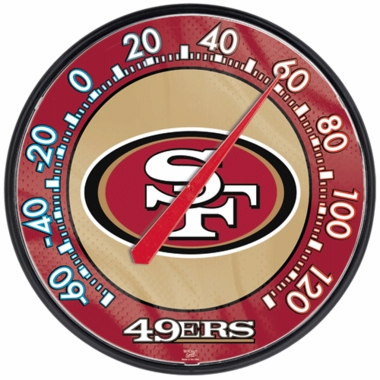 San Francisco 49ers Round Wall Thermometer