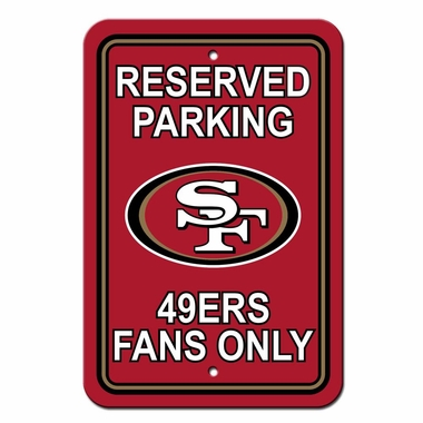 San Francisco 49ers Plastic Reserved Parking Sign (P)