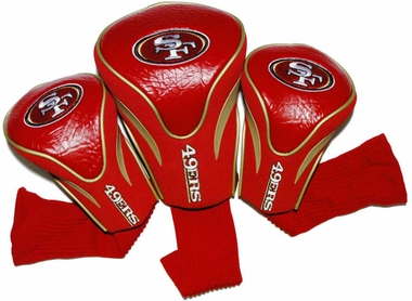 San Francisco 49ers Set of Three Contour Headcovers