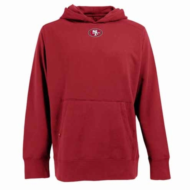 San Francisco 49ers Mens Signature Hooded Sweatshirt (Color: Red)