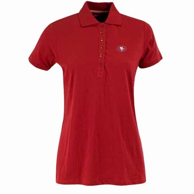 San Francisco 49ers Womens Spark Polo (Color: Red)