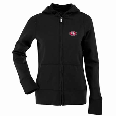 San Francisco 49ers Womens Zip Front Hoody Sweatshirt (Color: Black)