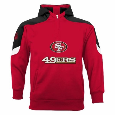 San Francisco 49ers YOUTH Kick Off 1/4 Zip Performance Hoody