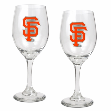 San Francisco Giants 2 Piece Wine Glass Set