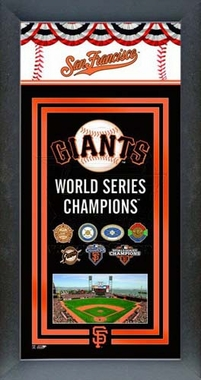 San Francisco Giants 2012 World Series Champions Framed Championship Banner