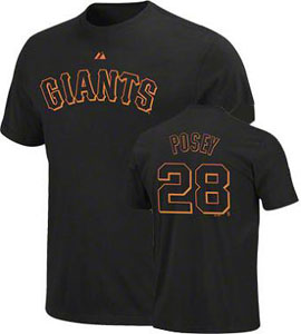 San Francisco Giants Buster Posey Name and Number T-Shirt - X-Large