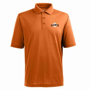 San Francisco Giants Mens Pique Xtra Lite Polo Shirt (Color: Orange)