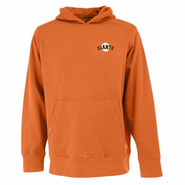 San Francisco Giants Mens Signature Hooded Sweatshirt (Color: Orange)