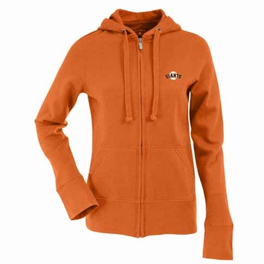 San Francisco Giants Womens Zip Front Hoody Sweatshirt (Color: Orange)