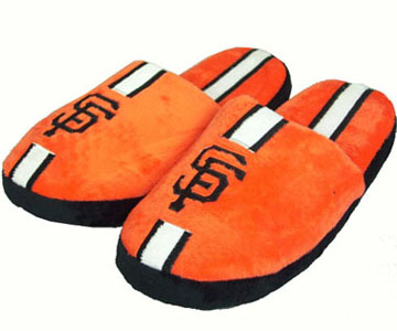 San Francisco Giants YOUTH Team Stripe Slide Slippers - Large