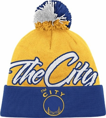 San Francisco Warriors National City Vintage Cuffed Pom Hat