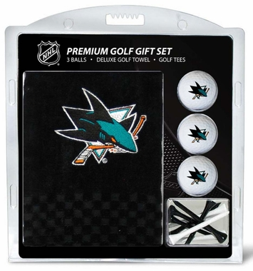 San Jose Sharks Embroidered Towel Golf Gift Set