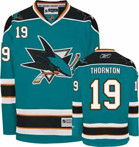 San Jose Sharks Joe Thornton Team Color Premier Jersey - X-Large