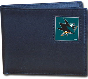 San Jose Sharks Leather Bifold Wallet (F)