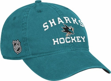 San Jose Sharks Locker Room Team Slouch Adjustable Hat