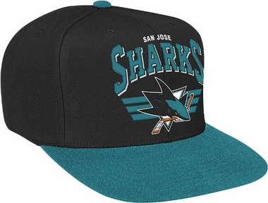 San Jose Sharks Stadium Throwback Snapback Hat
