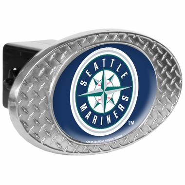Seattle Mariners Metal Diamond Plate Trailer Hitch Cover