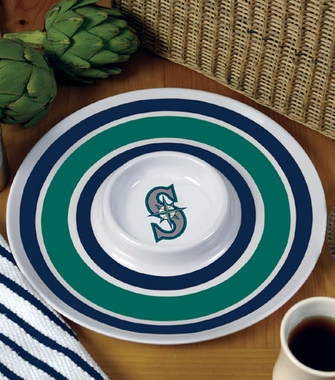 Seattle Mariners Plastic Chip and Dip Plate