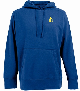 Seattle Mariners Mens Signature Hooded Sweatshirt (Cooperstown) (Color: Royal)