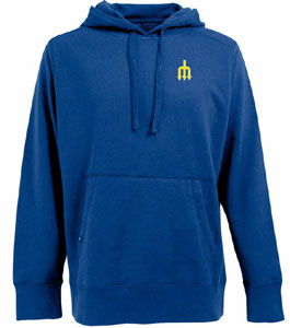Seattle Mariners Mens Signature Hooded Sweatshirt (Cooperstown) (Color: Royal) - X-Large