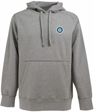 Seattle Mariners Mens Signature Hooded Sweatshirt (Color: Silver)