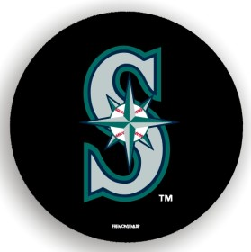 Seattle Mariners Black Tire Cover - Standard Size