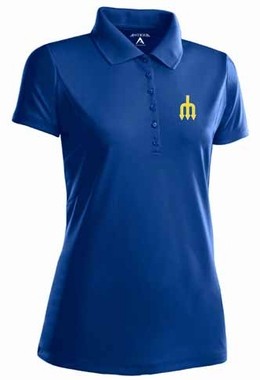 Seattle Mariners Womens Pique Xtra Lite Polo Shirt (Cooperstown) (Color: Royal)
