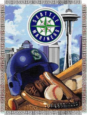 Seattle Mariners Woven Tapestry Throw Blanket
