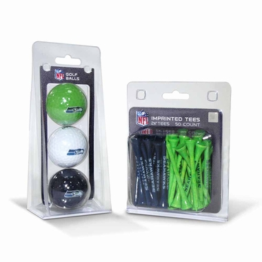 Seattle Seahawks 3 Glaf Balls and 50 Tees