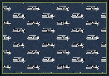 "Seattle Seahawks 7'8 x 10'9"" Premium Pattern Rug"