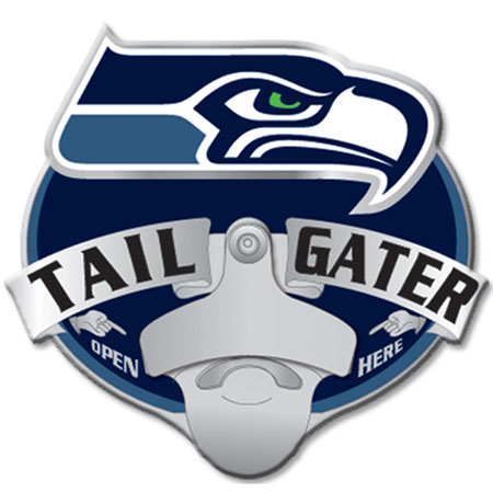 seattle seahawks bottle opener hitch cover. Black Bedroom Furniture Sets. Home Design Ideas