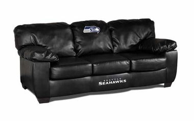 Seattle Seahawks Leather Classic Sofa