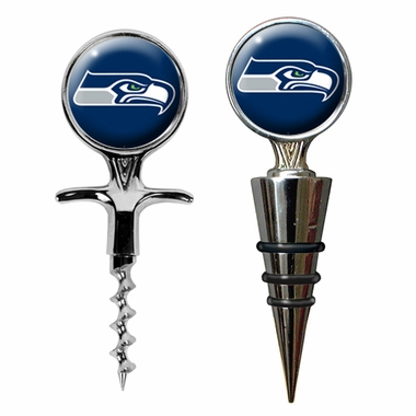 Seattle Seahawks Corkscrew and Stopper Gift Set