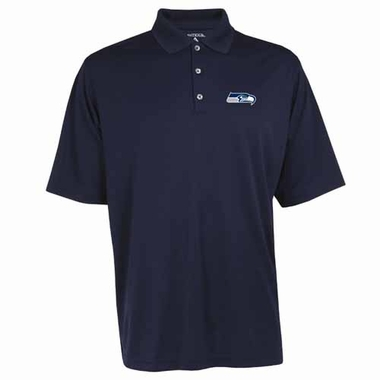 Seattle Seahawks Mens Exceed Polo (Color: Navy)