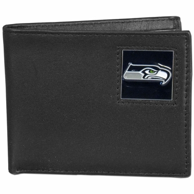 Seattle Seahawks Leather Bifold Wallet (F)