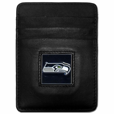 Seattle Seahawks Leather Money Clip (F)